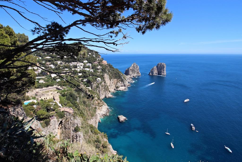 Capris beste Aussicht: Der Punta Cannone.