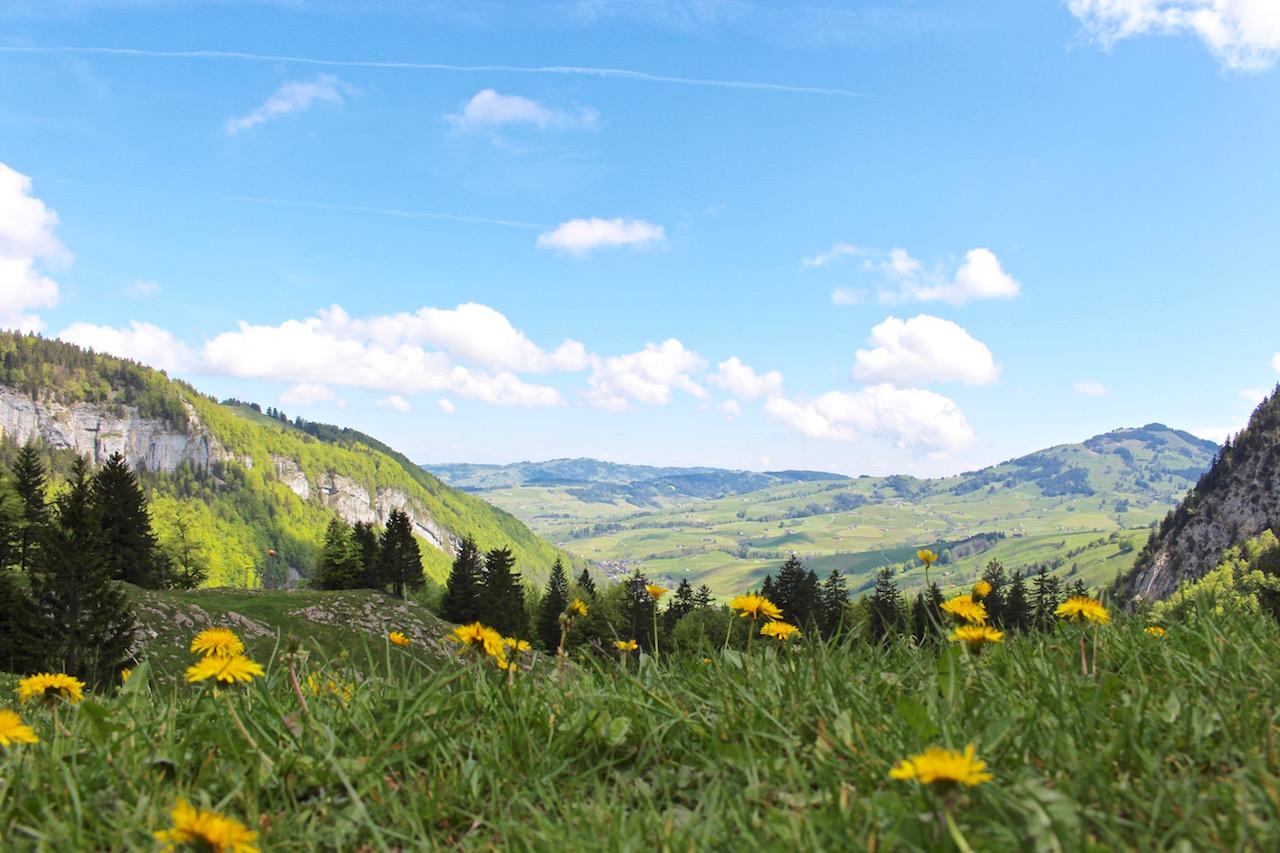 Wanderung via Seealpsee zum Berggasthaus Aescher auf der Ebenalp.