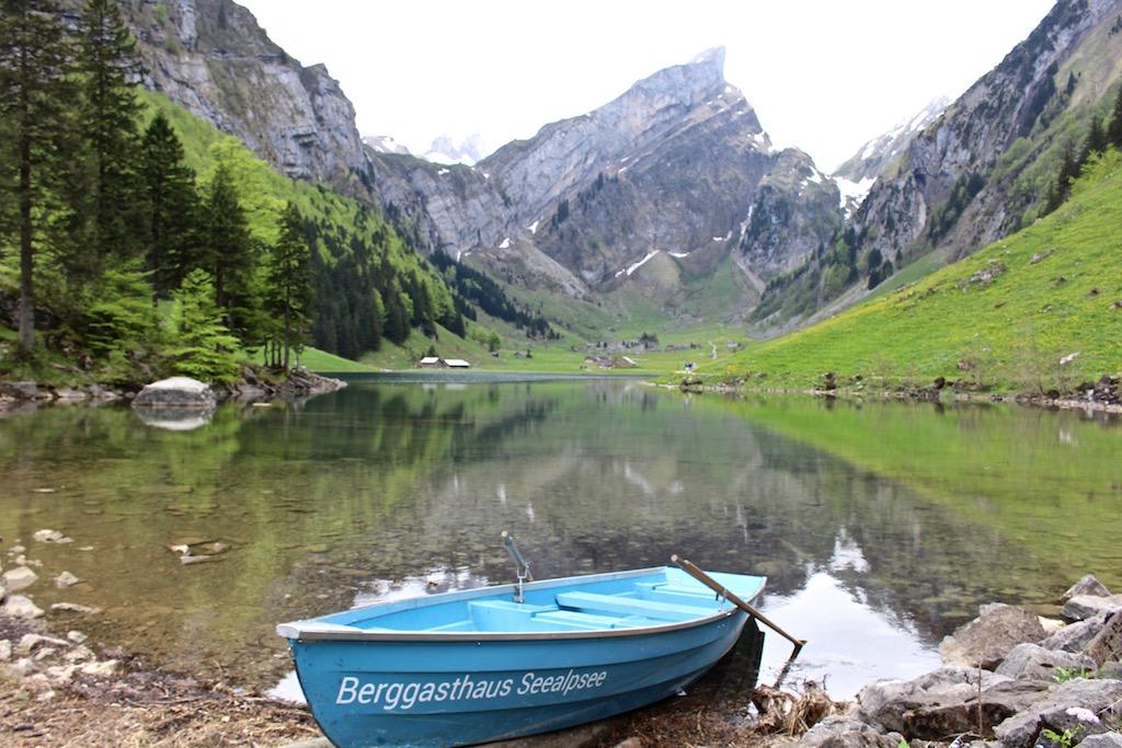 Bootanlegestelle des Berggasthauses Seealpsee.