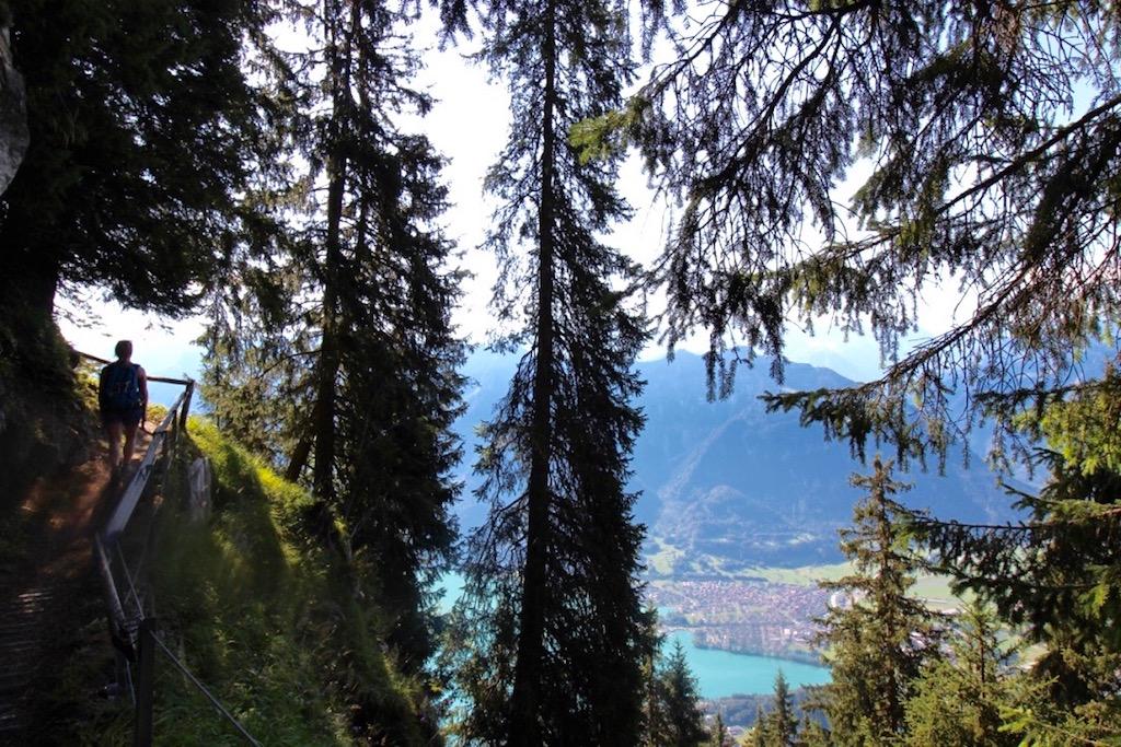 Immer wieder werden uns tolle Ausblicke auf Interlaken gewährt.