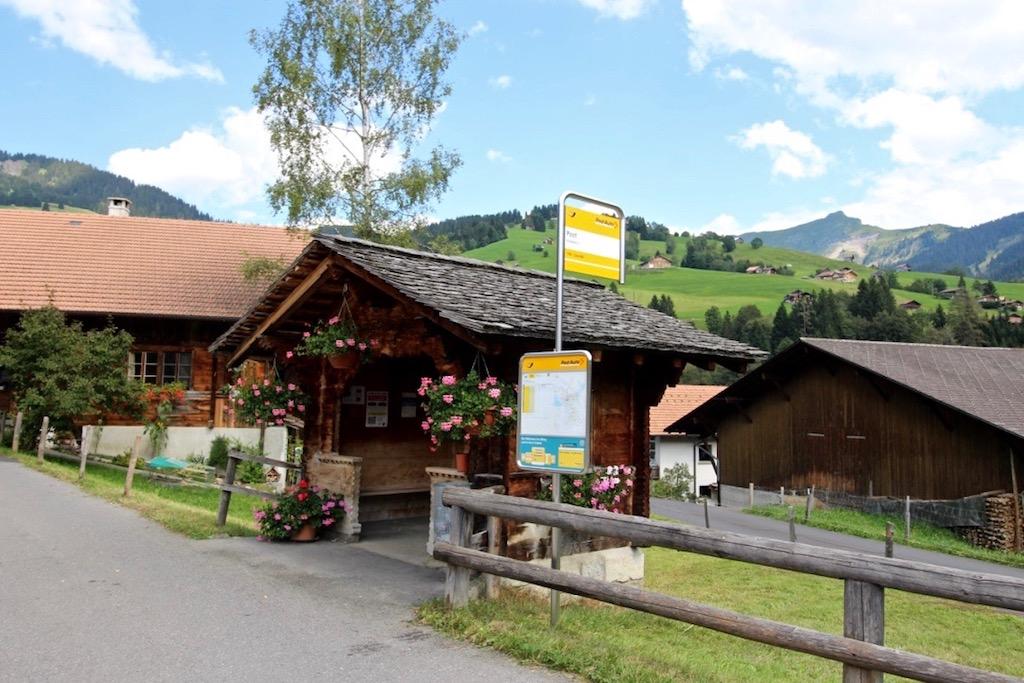 Habkern und seine Postautostation. Einmalig, oder?