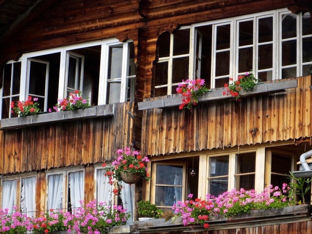 Idyllische Häuser in Habkern.