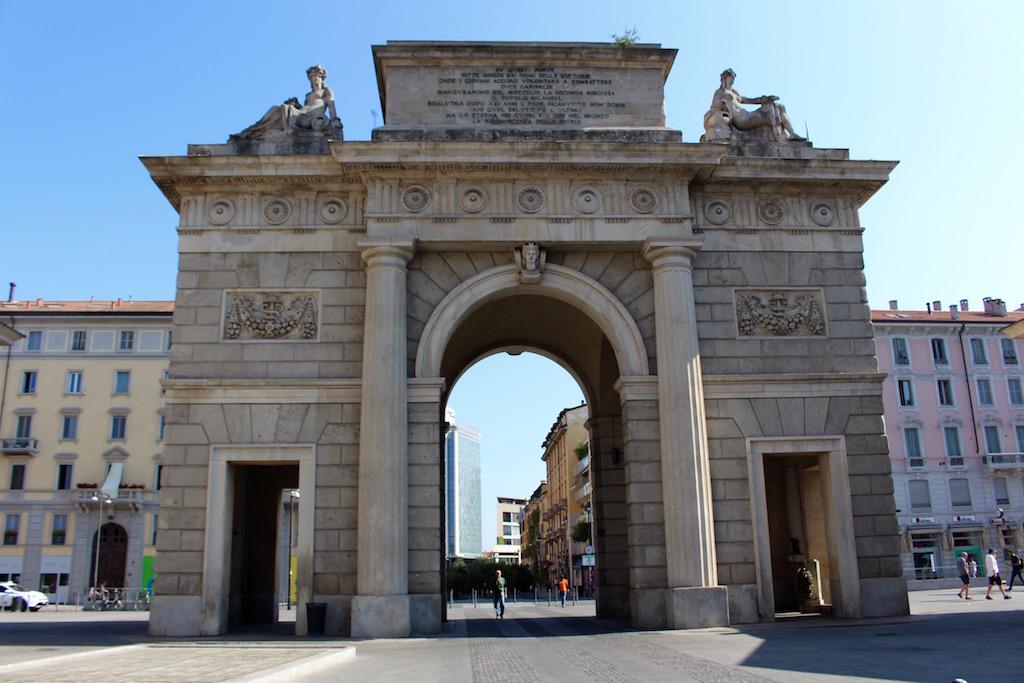 Die Porta Garibaldi in Mailand.
