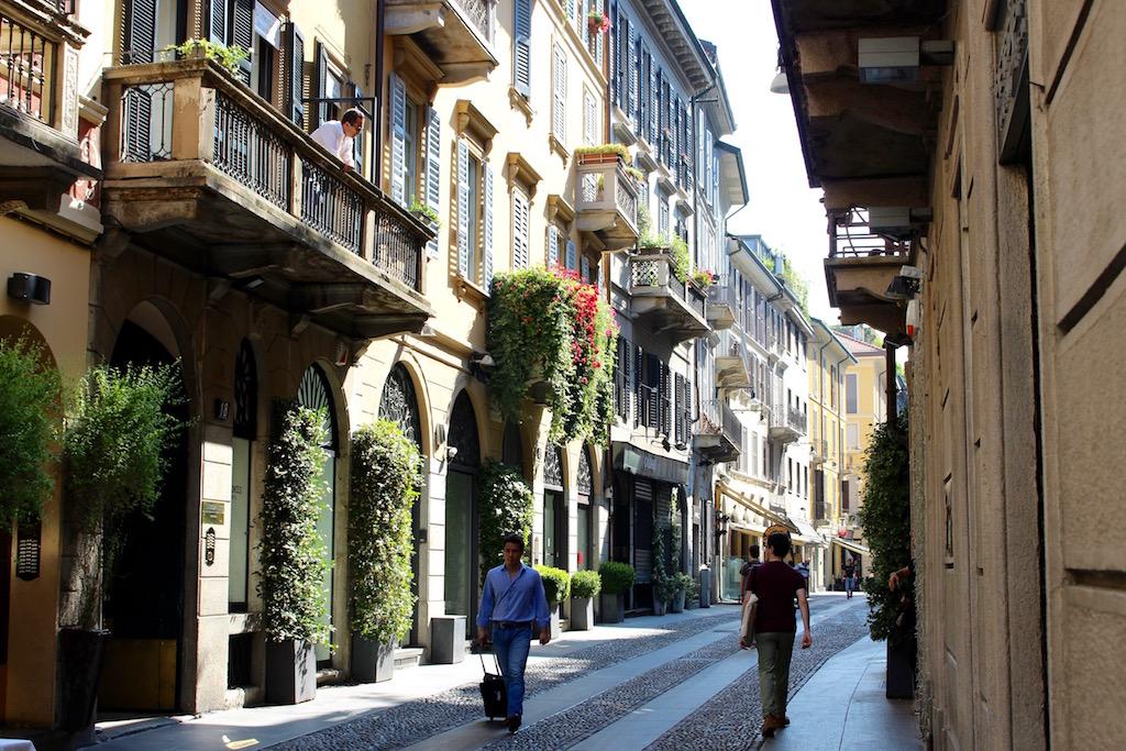 Brera ist eines der schönsten Viertel in Mailand.