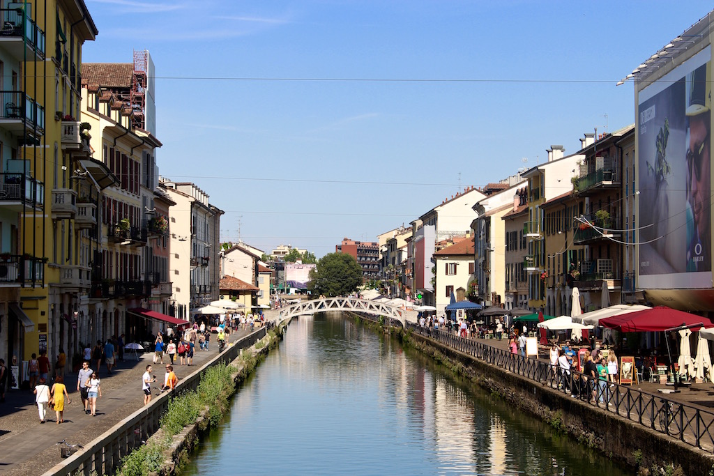 Die Kanäle von Mailand sind perfekt zum Flanieren.