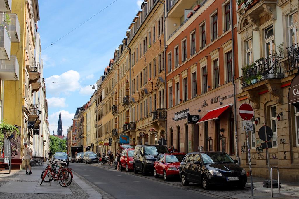 Unterwegs in Dresdens Neustadt.