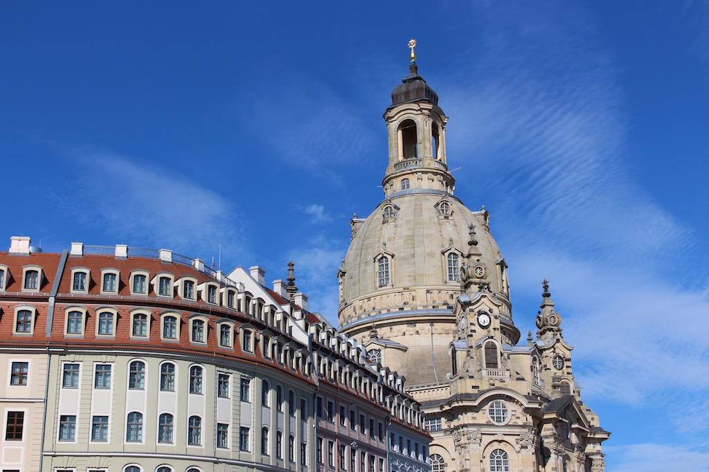 Dresdens berühmtester Bau: Die Frauenkirche.