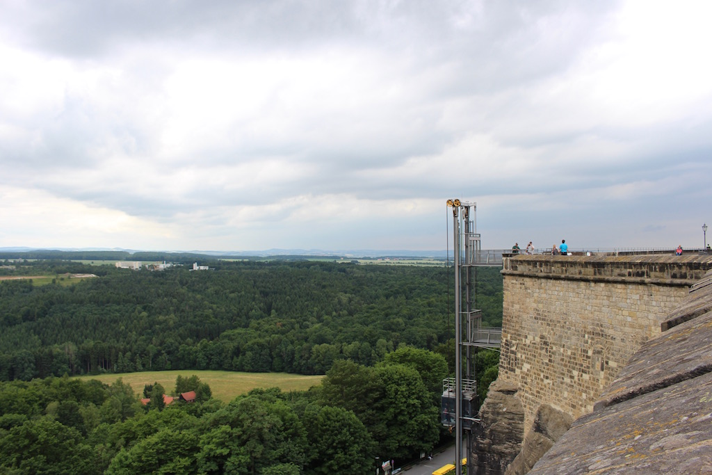 Der Panoramalift bei Königstein.