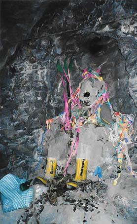 Der Höhlengott im Cerro Rico in Potosi.