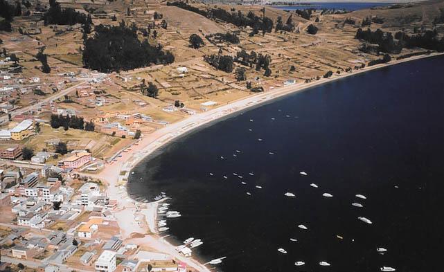 Die Isla del Sol im Titicacasee.