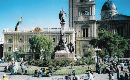 In der Innenstadt von La Paz.