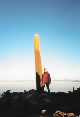 Sonnenaufgangszeit auf dem grössten Salzsee der Welt.