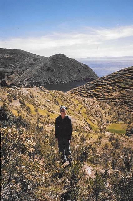 Wandern auf der Isla del Sol im Titicacasee.