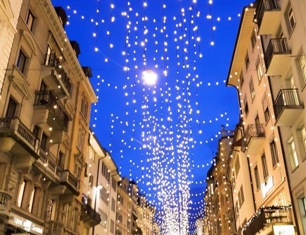 Zürich glitzert in Lucys Lichtermeer.