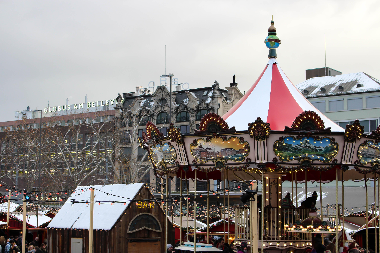 Das Zürcher Weihnachtsdorf.