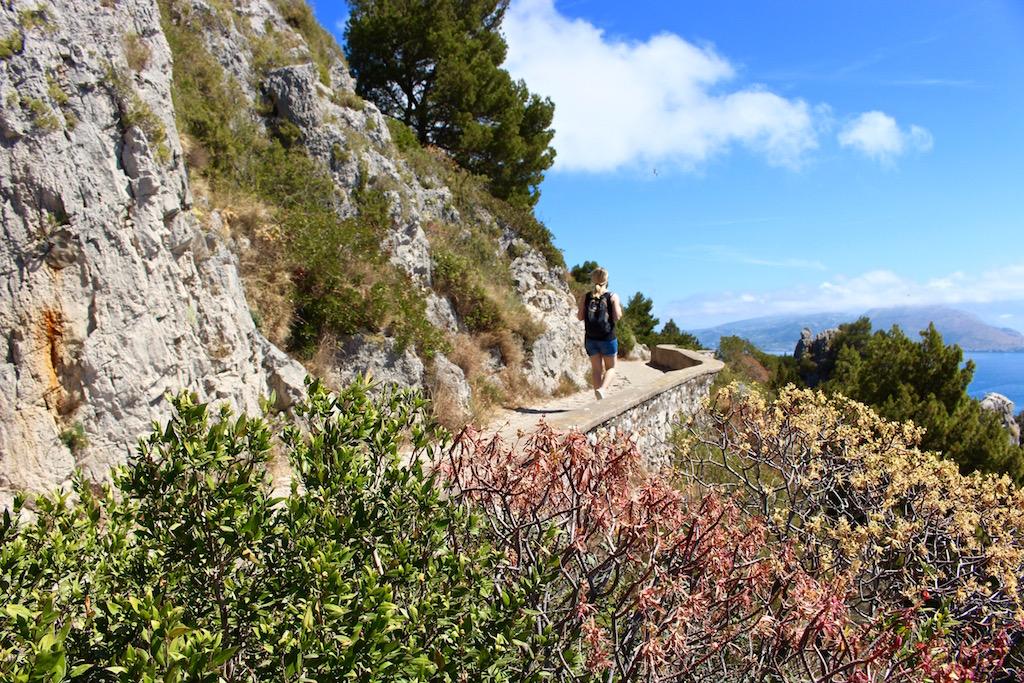 Wandern auf Capri.