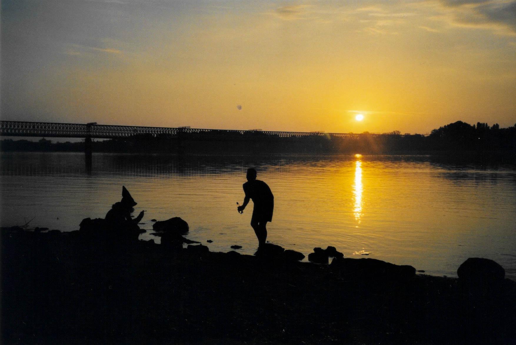 Sonnenaufgang am Sziget Festival.