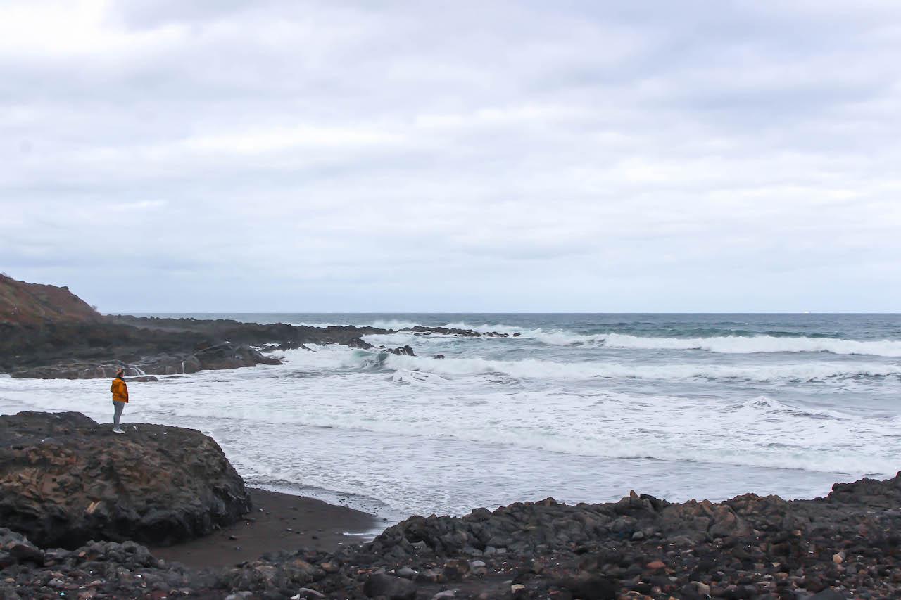 San Felipe, einsamer Strand auf Gran Canaria.