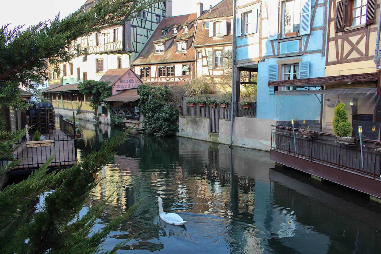 Hübsche Aussichten in Klein Venedig in Colmar.
