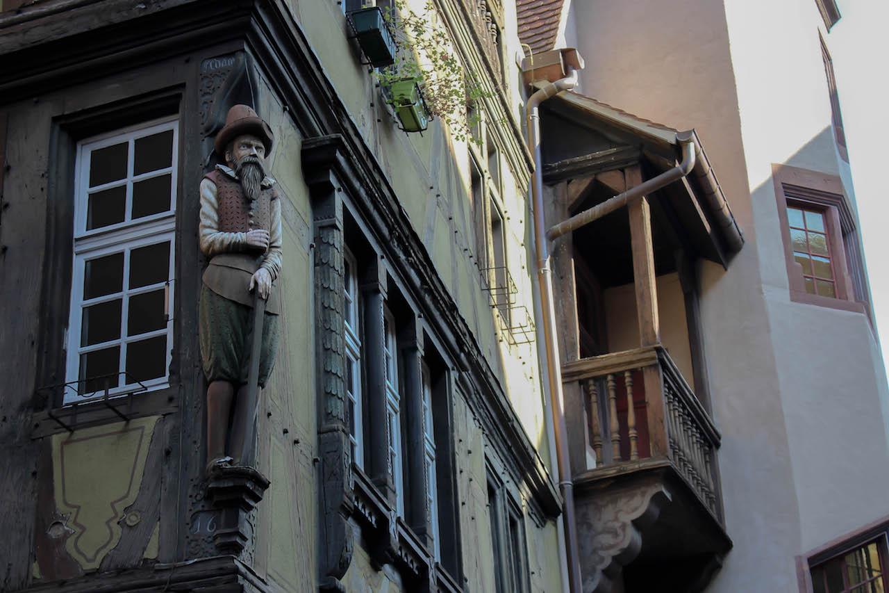 Architektonisch interessante Bauten in Colmar.