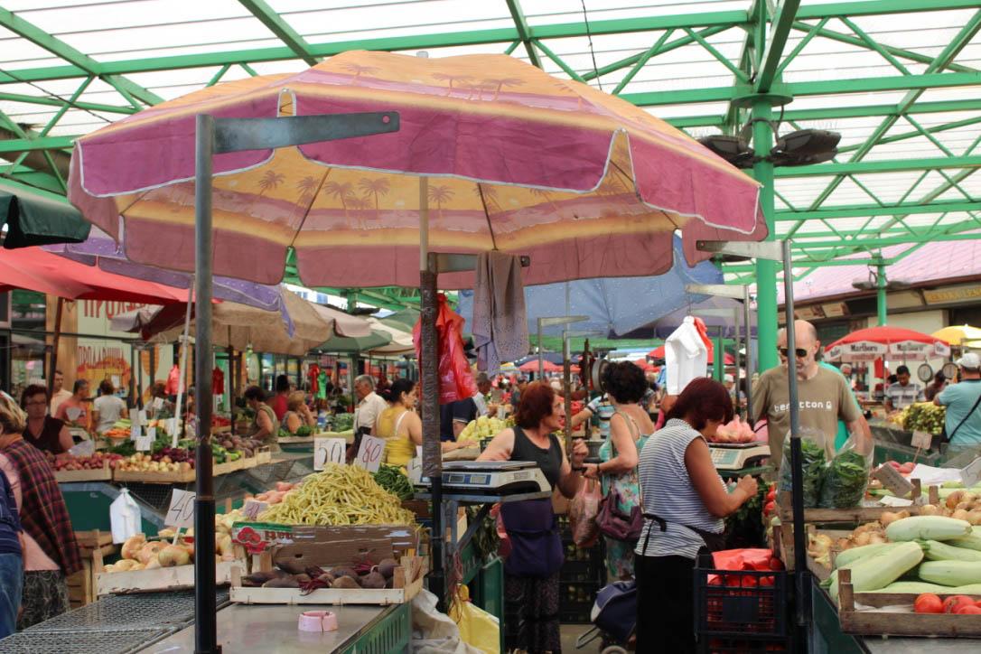 Markt in Belgrad.