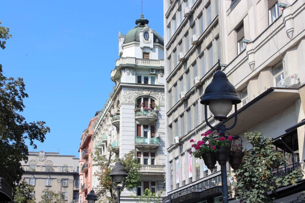 Die Innenstadt Belgrads.