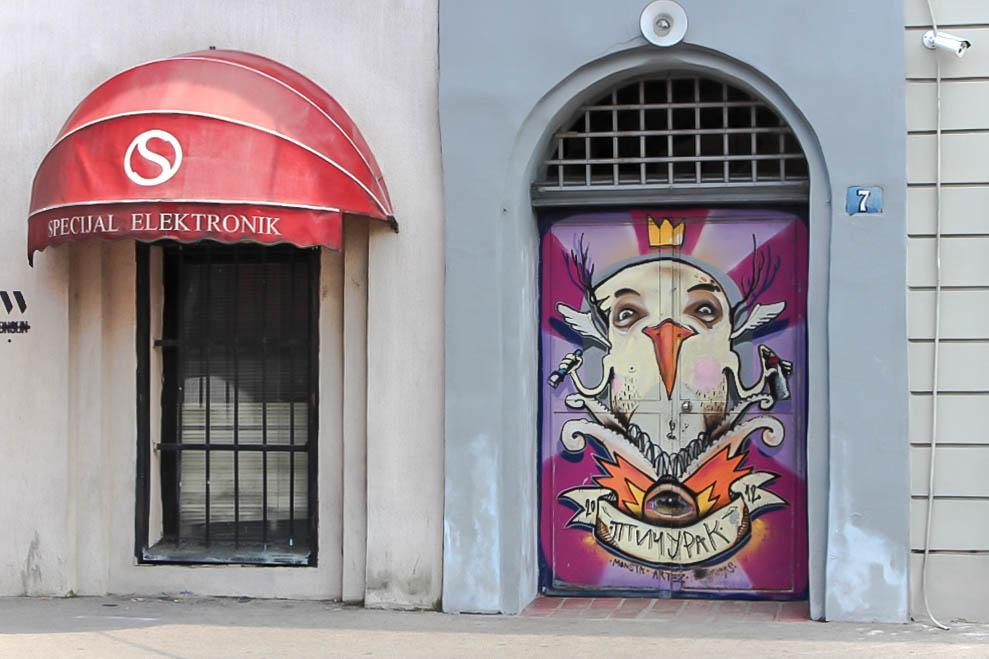 Streetart in Belgrad.