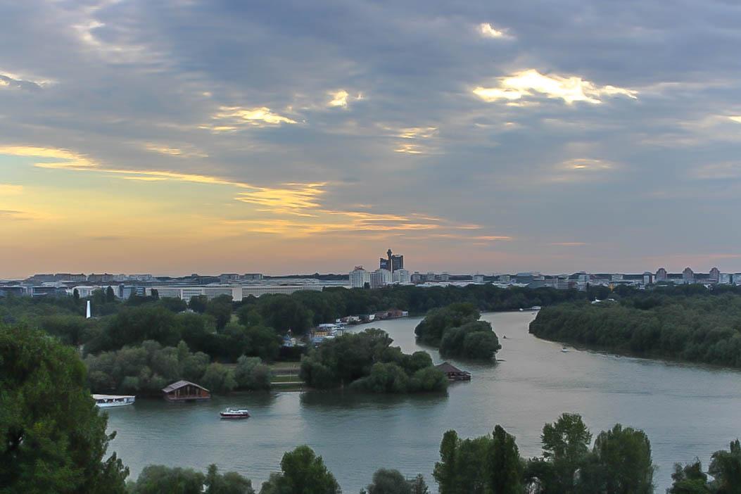 Donau und Save in Belgrad.