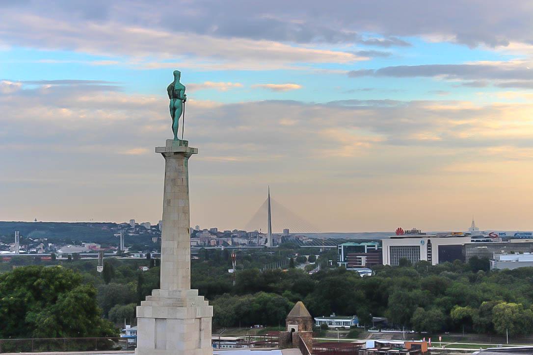Sicht über Belgrad.