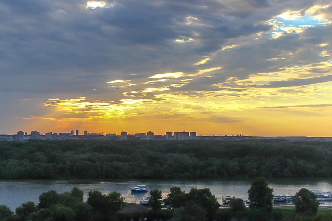 Abendliche Idylle in Belgrad.