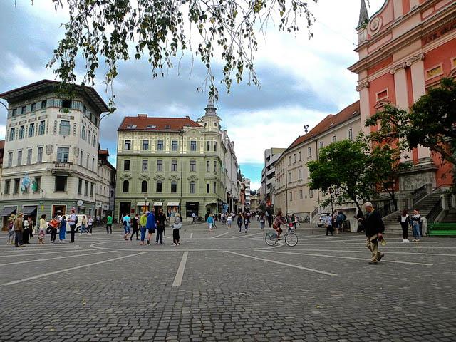 Die Innenstadt Ljubljanas.