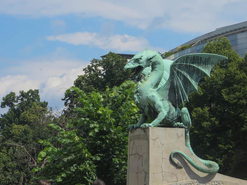 Der Drachen, das Wahrzeichen Ljubljanas.
