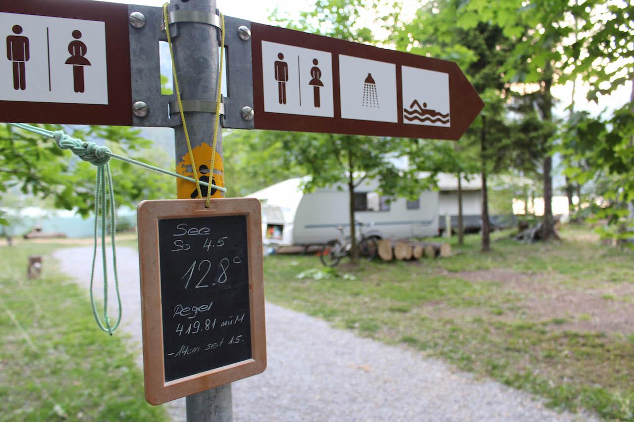 Auf dem Camping Gäsi am Walensee.
