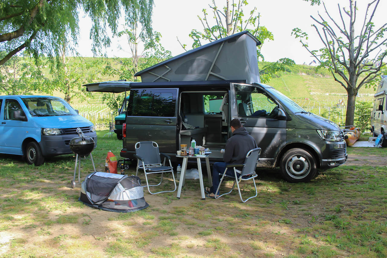 Camping in Cortaillod.