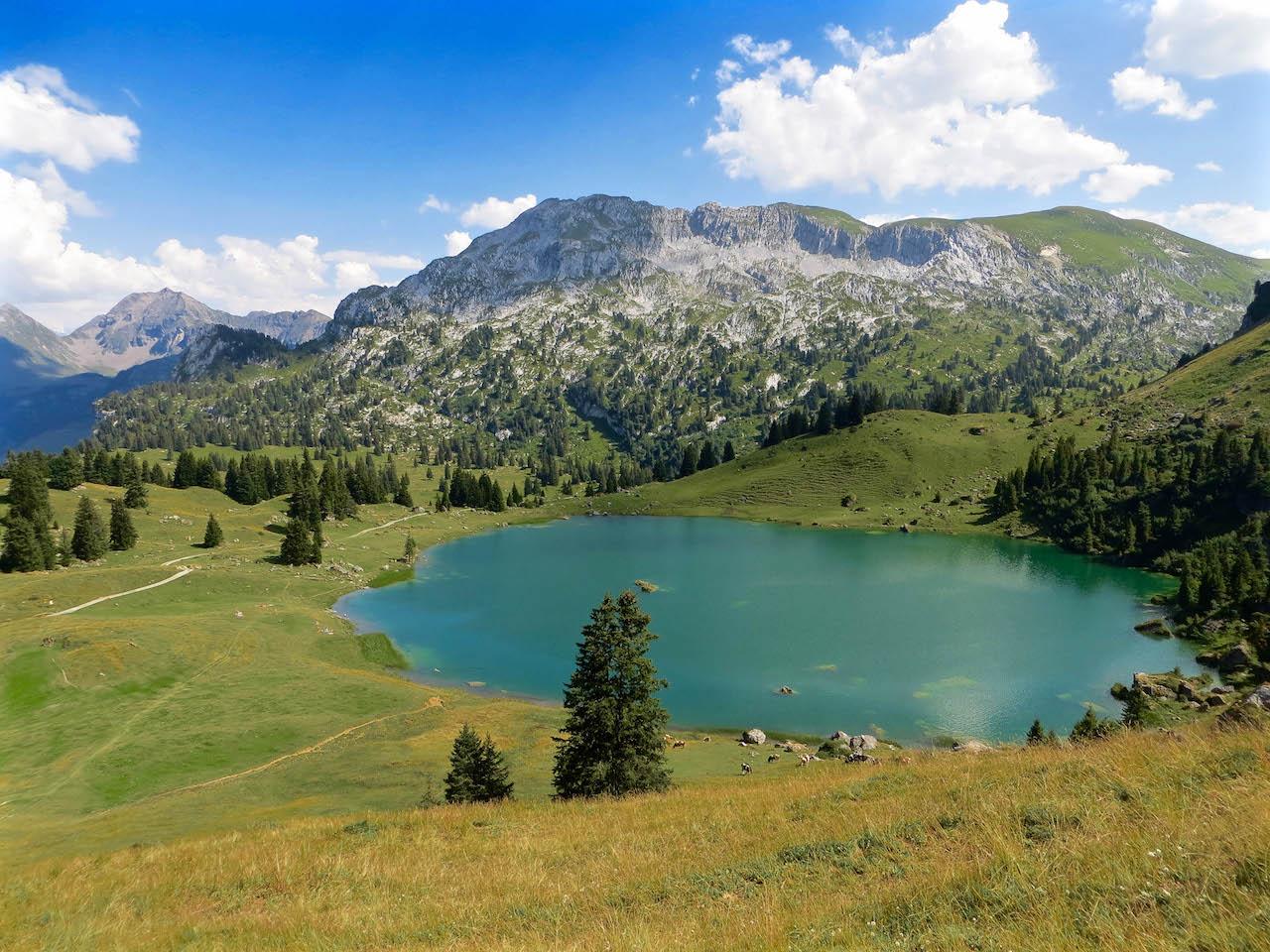 Bergseen in der Schweiz - Hier der Seebergsee im Berner Oberland.