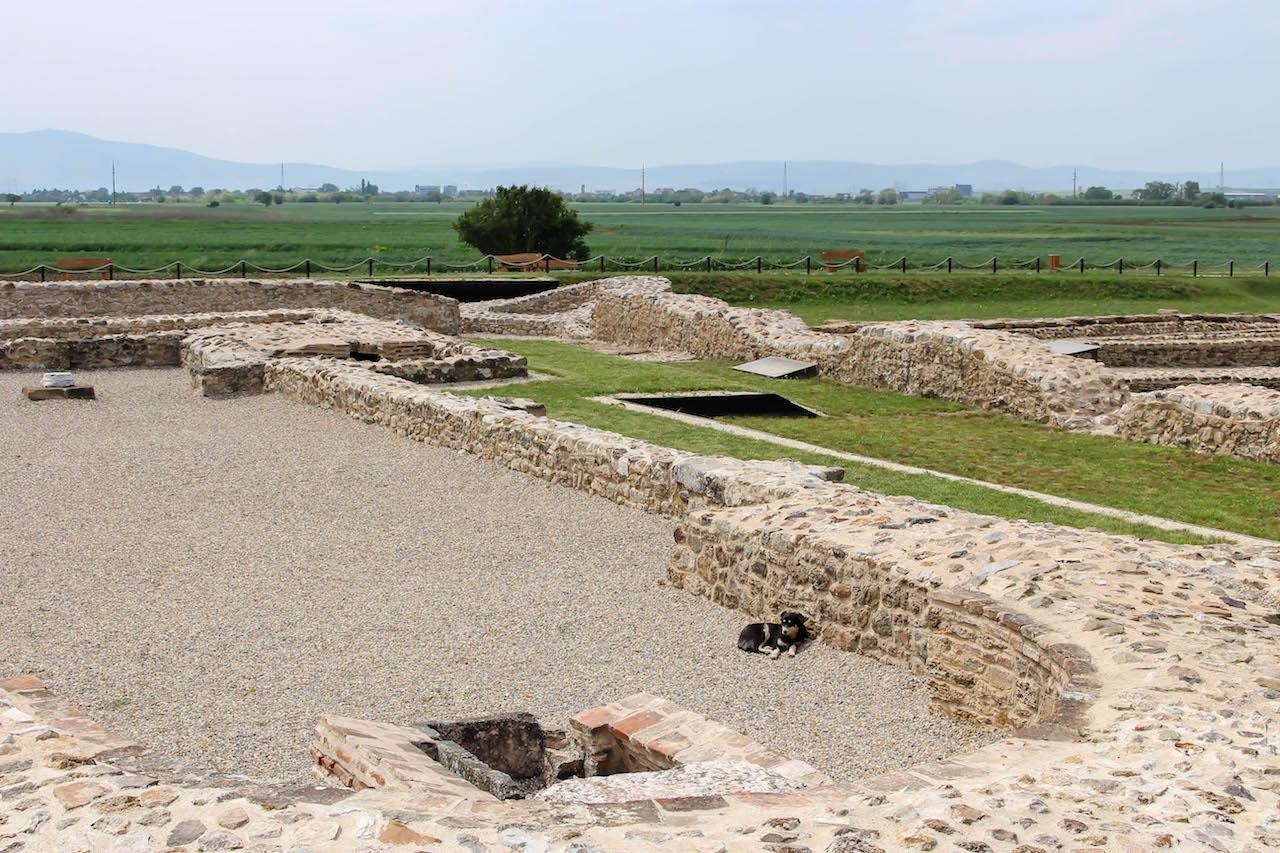 Einblick in die Ausgrabungsstätte Ulpiana in der Nähe von Pristina.