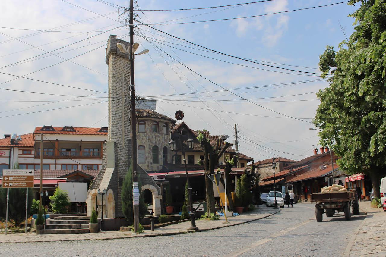 Das historische Stadtbild Gjakovas.
