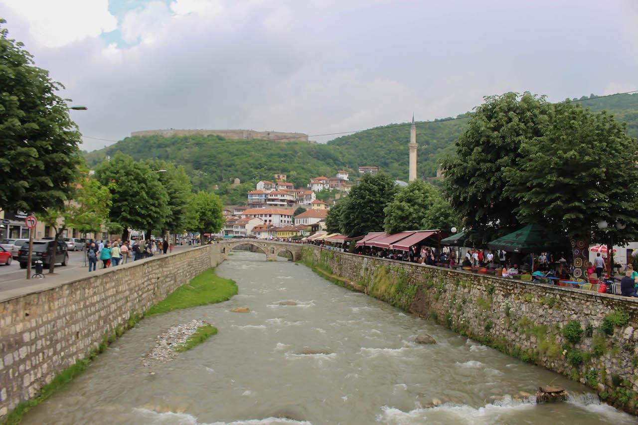 Prizren mit seiner Festung.