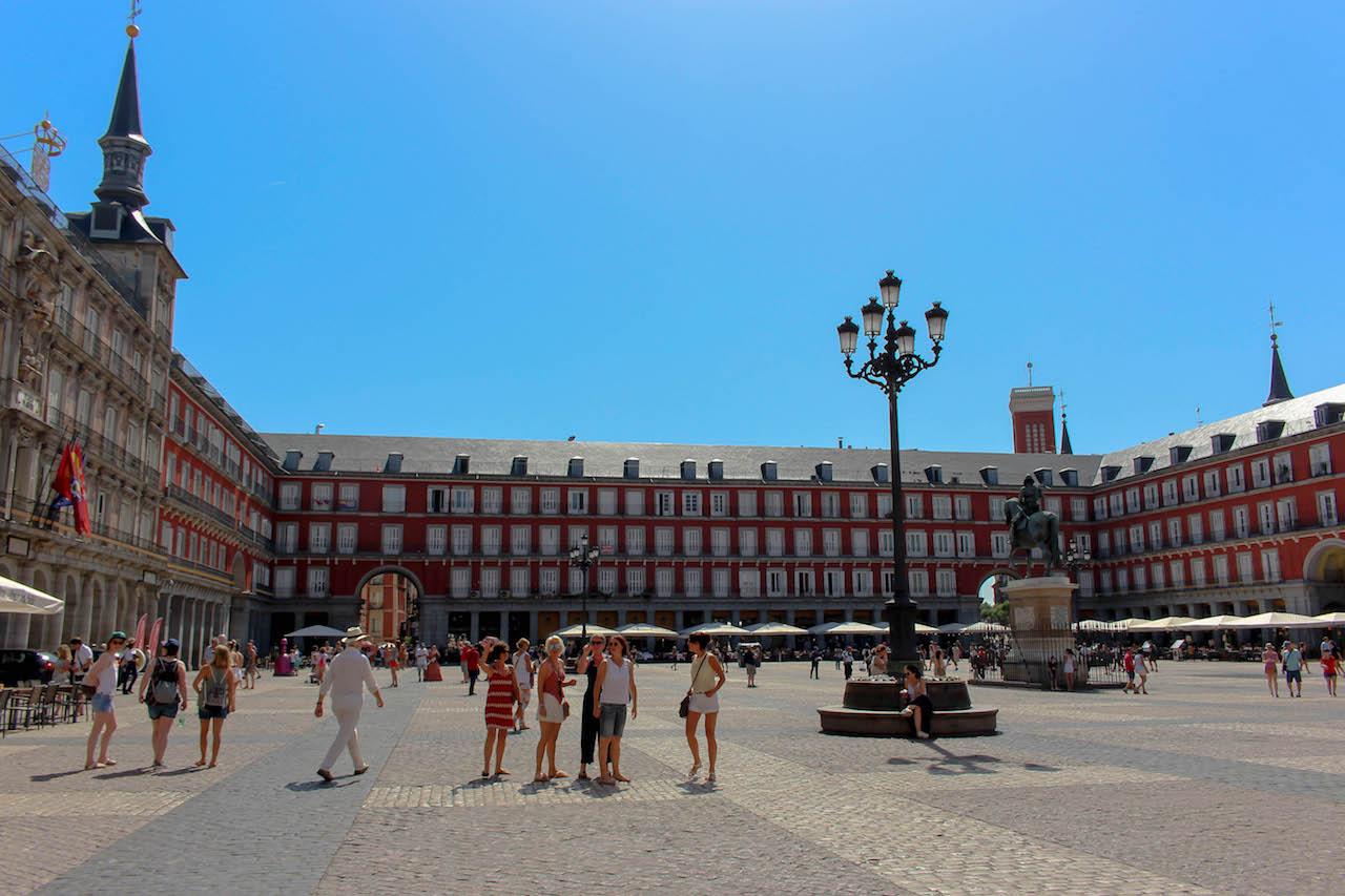 Die Plaza Mayor in Madrid.