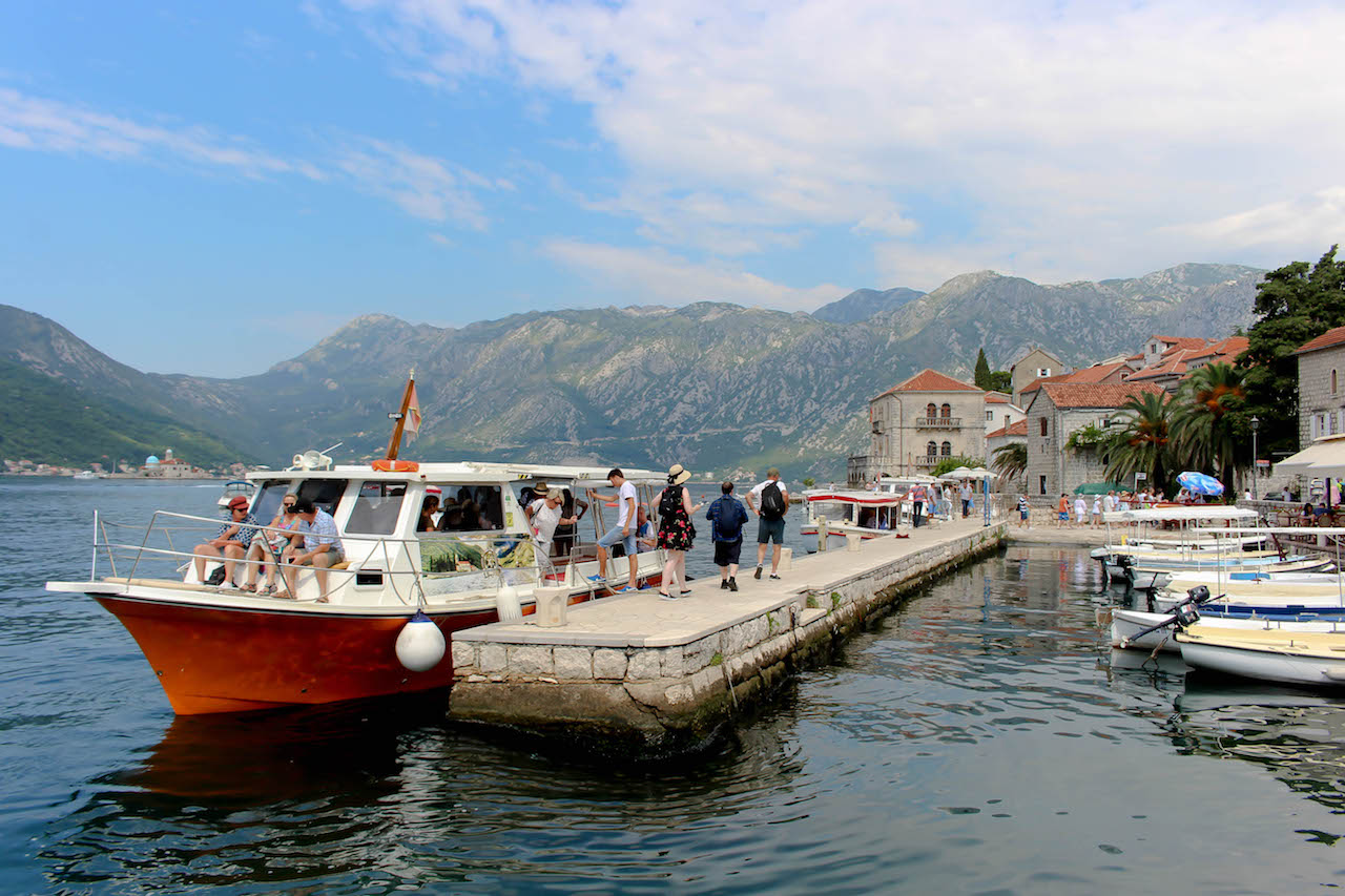 Bootsfahrten an der Kotor Bay.