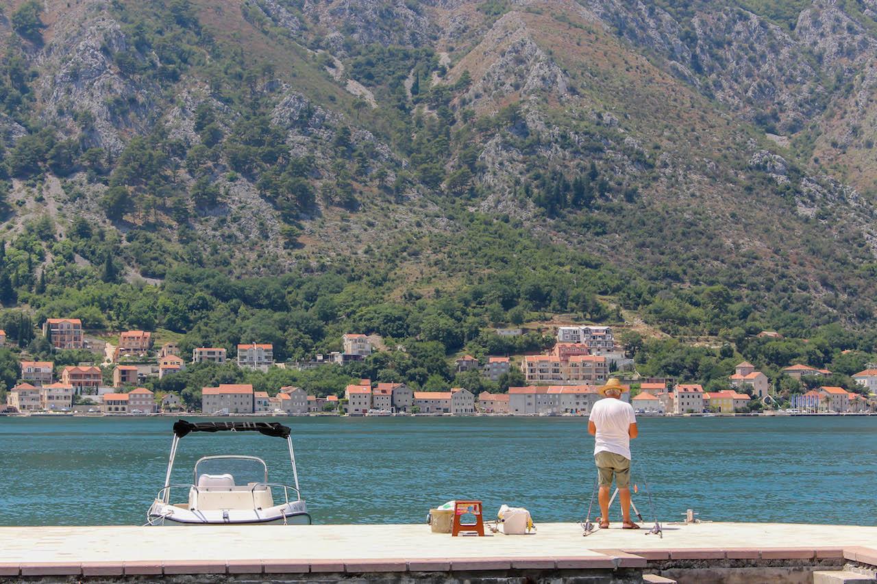 Ein- und Aussichten an der Bucht von Kotor.