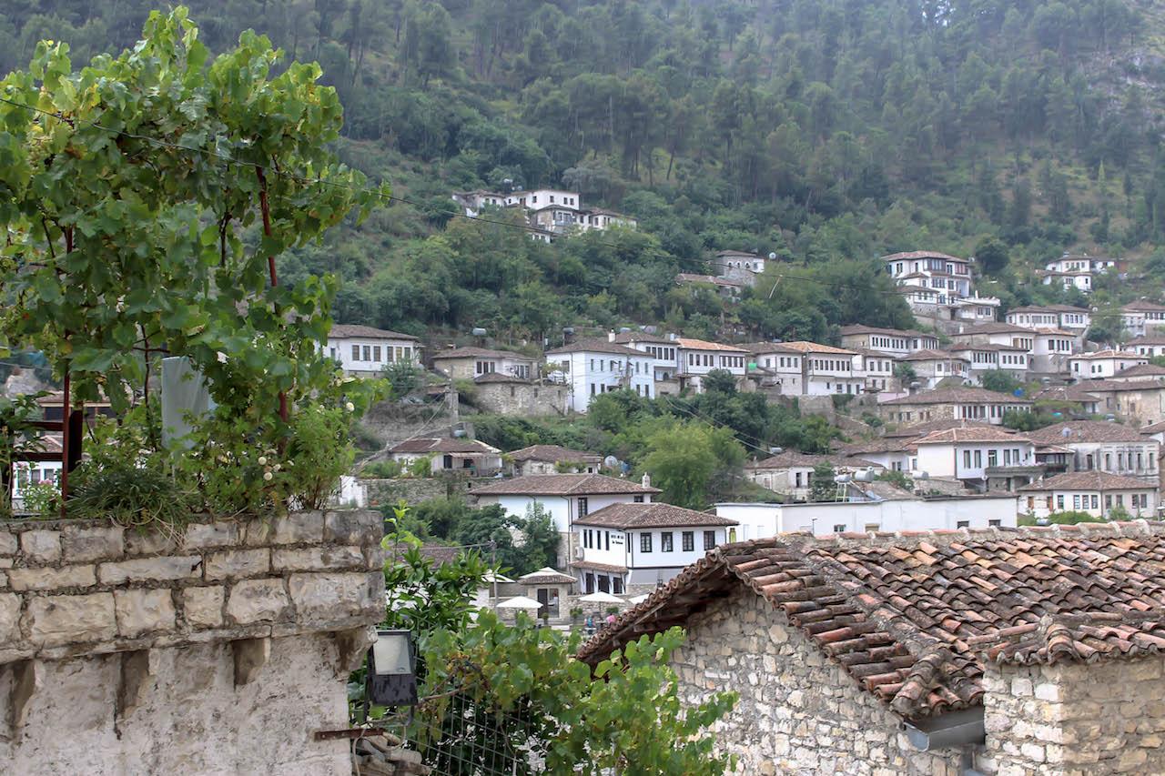 In Mangalem, Berat, Albanien.