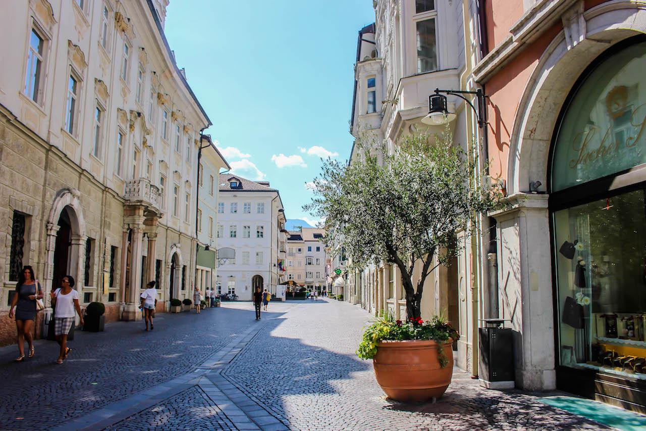 Bozen, eine der grösseren Städte in Südtirol.