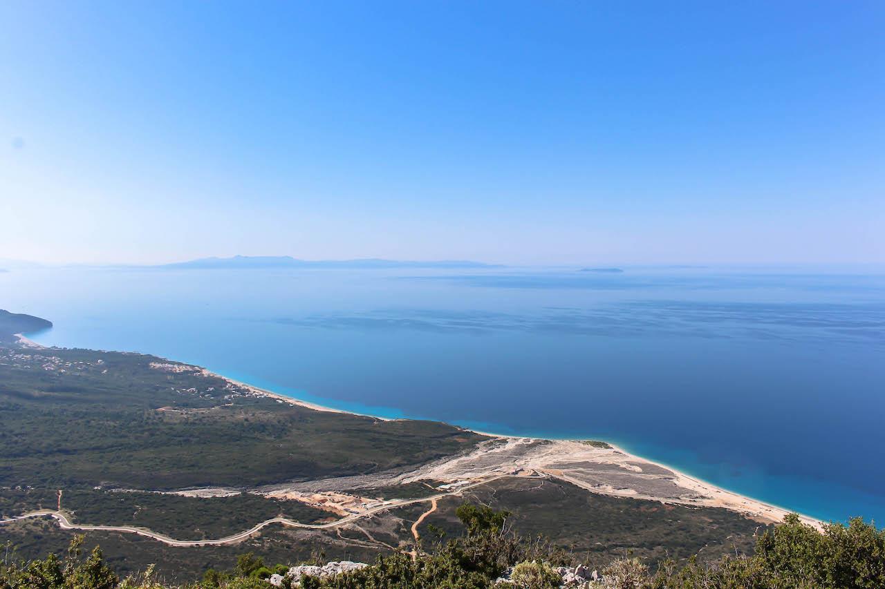 Blick an die Küste vom Llogara Pass aus.
