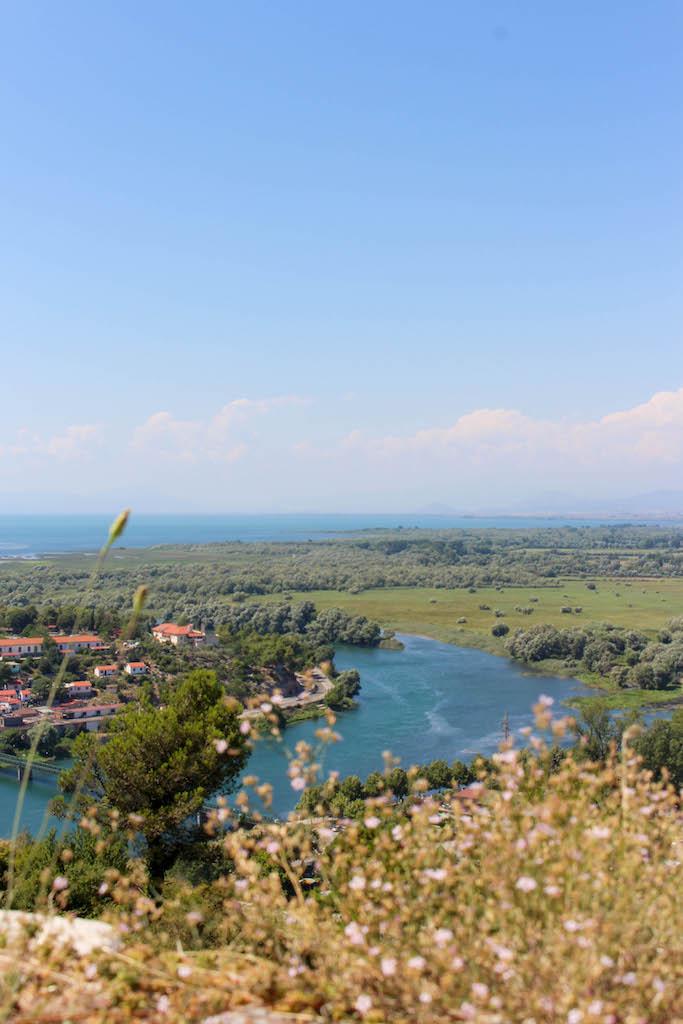 Ausblick von der Festung Rozafa.