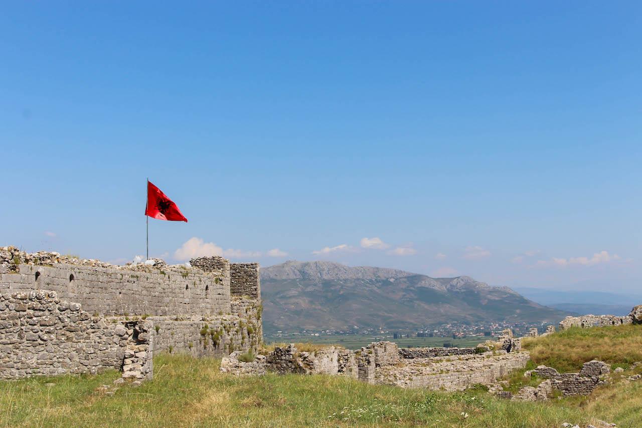 Die Festung Rozafa in Shkodra.