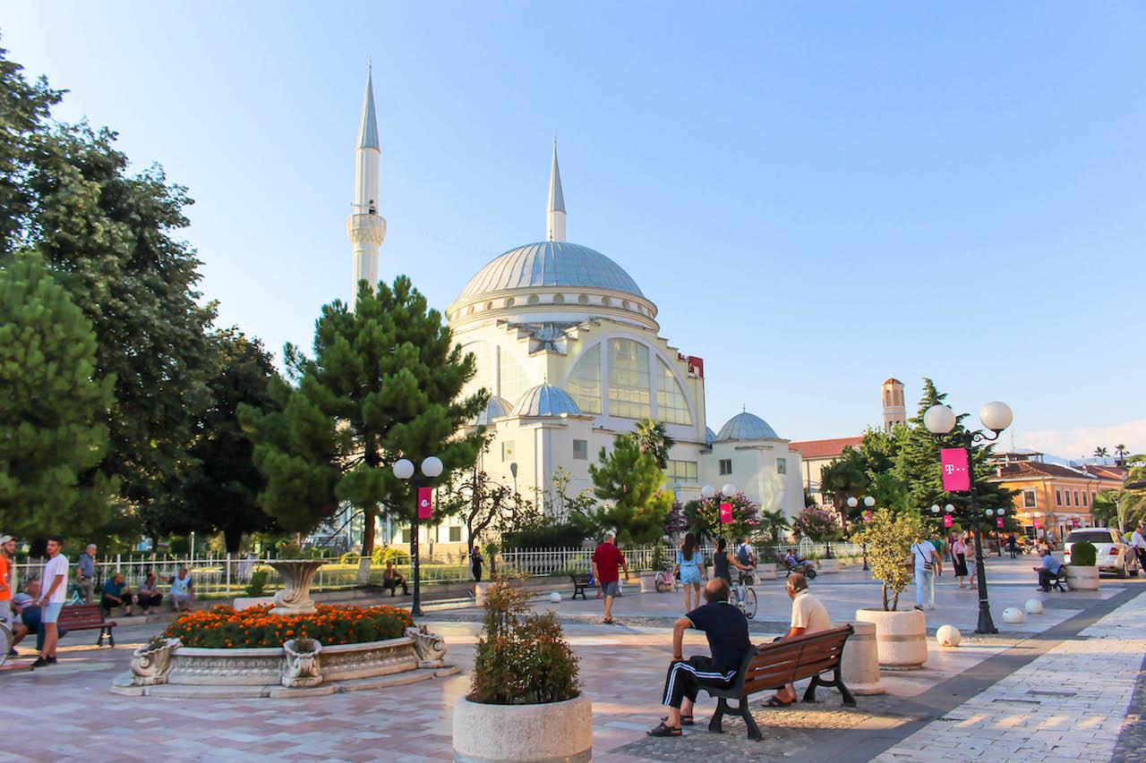 Shkodra, die Fahrradstadt in Albanien.