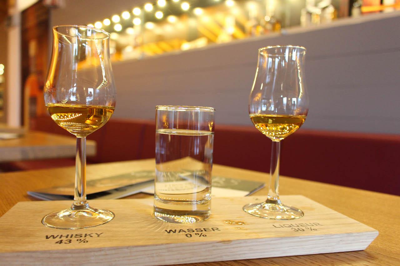 Degustation in der Whisky Brennerei am Schliersee.