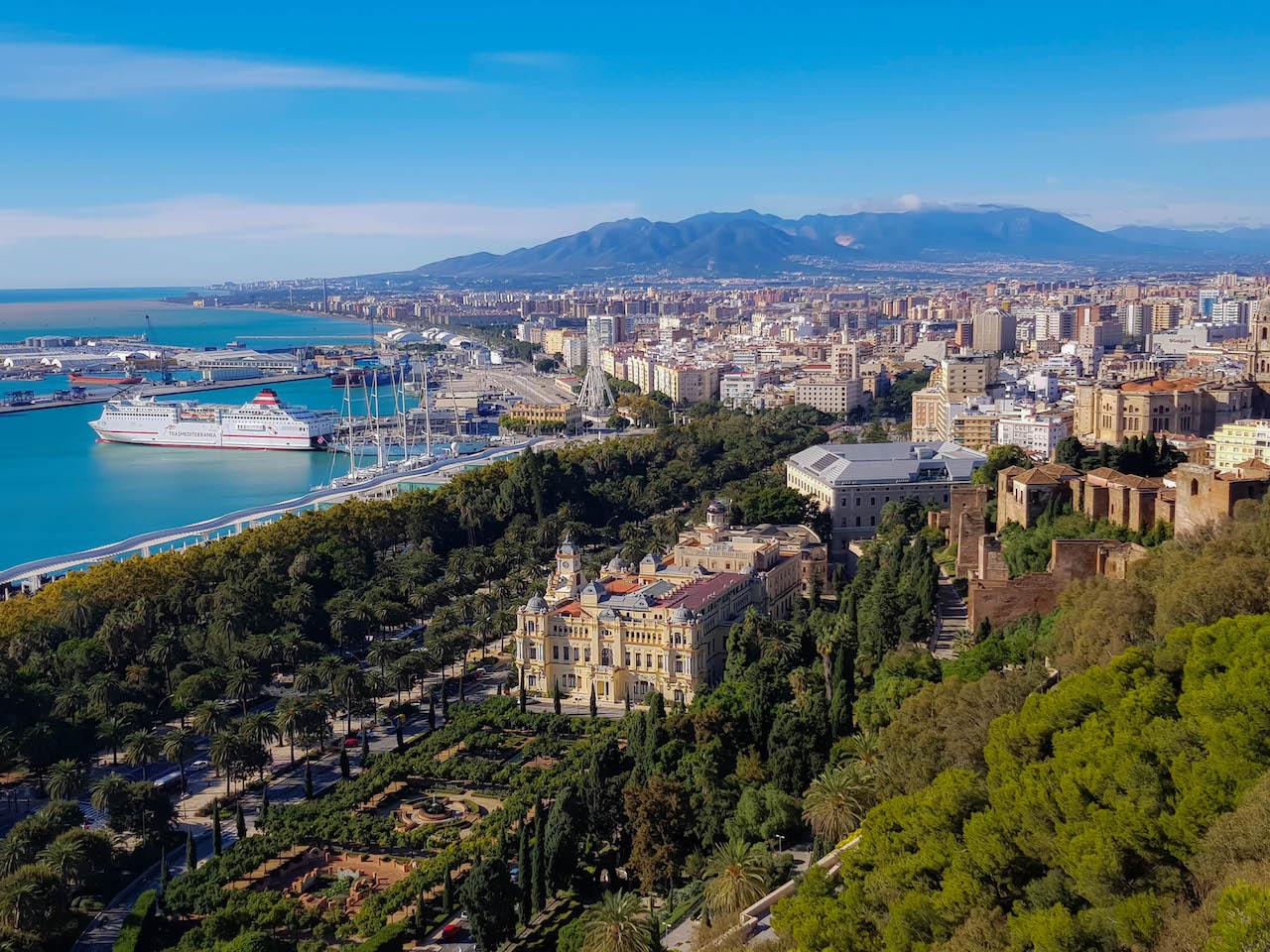 Aussicht Málaga
