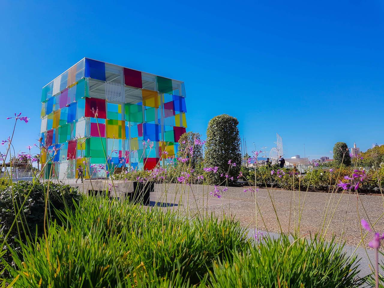 Das Centre Pompidou in Málaga.